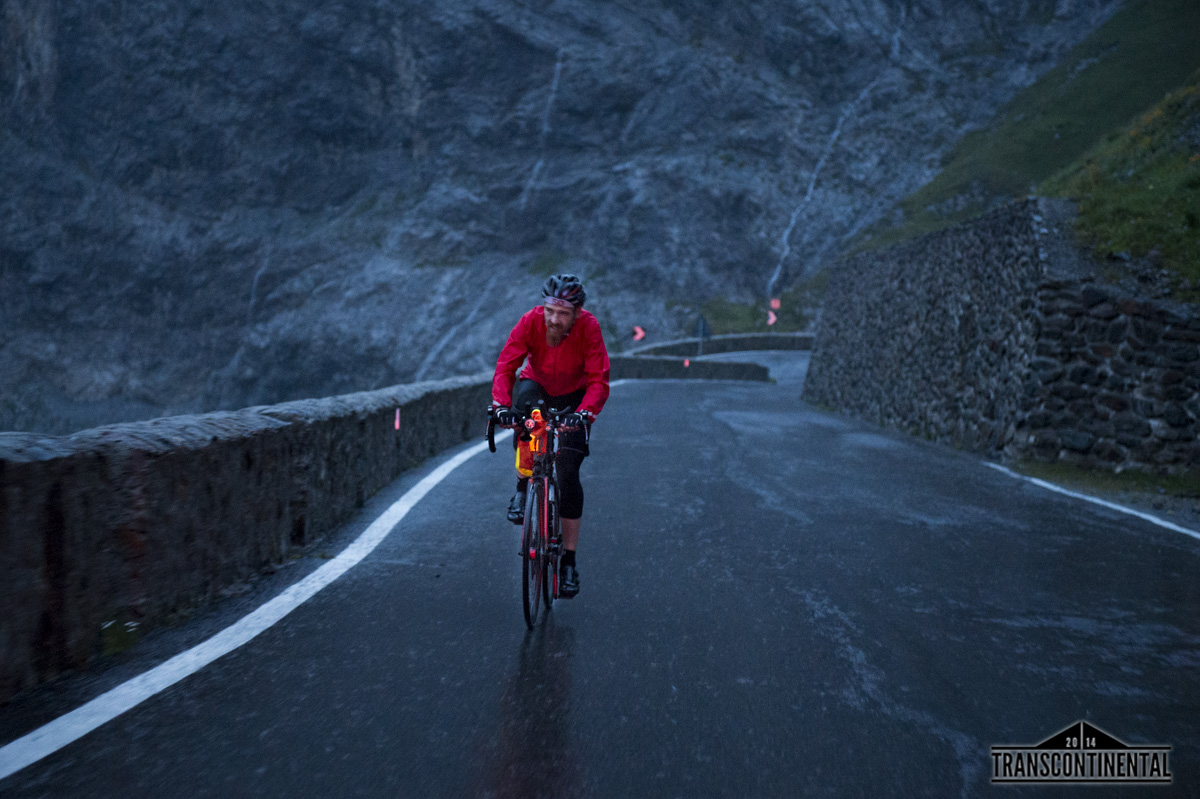 Transcontinental 2014 Race. Day 4. Checkpoint at Stelvio Pass.