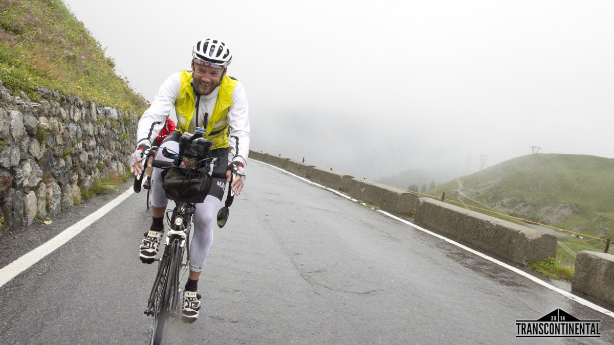 Transcontinental 2014 Race. Day 5 Checkpoint at Stelvio Pass.